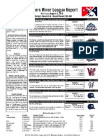 Minor League Report 15.08.12