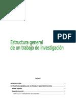 Estructura General de Un Trabajo de Investigacion
