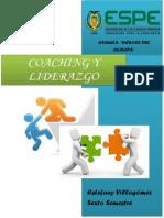 Resumen de Coaching y Liderazgo - Estefany Villagómez