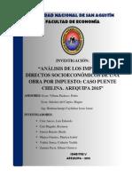 ANÁLISIS DE LOS IMPACTOS DIRECTOS SOCIOECONÓMICOS DE UNA OBRA POR IMPUESTO