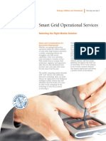 Smart Grid Operational Services - Selecting the Right Mobile Solution Fact Sheet