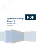 Hyperion Planning - Installation