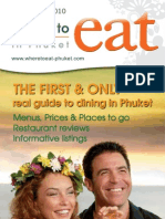 Where to Eat Phuket March - April 2010