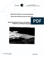 Qualite Des Eaux de La Retenue Al Massira Durant La Periode 2000-2003