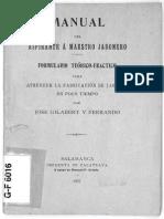 Manual Jabonero