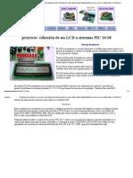 CONEXION DE UN DISPLAY LCD DE 16X1 16X2 A MICROCONTROLADORES PIC 16F84 16F628 16F88 18F2550 ESTANDAR PARA LCD DE 14 PINES PUNTO FLOTANTE S.A.pdf