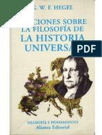 Lecciones sobre la filosofía de la historia universal, de G. W. F. Hegel