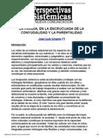 La Pareja, En La Encrucijada de La Conyugalidad y La Parentalidad - Juan Luis Linares