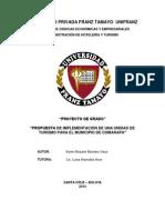 Tesis Implementacion Unidad de Turismo Municipio Comarapa