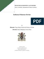 Enfisema pulmonar bovino relatório