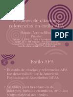 Abreviado Resumen de Citación y Referencias en Estilo APA