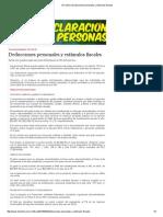 Deducciones Personales y Estímulos Fiscales