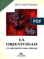 Maturana La Objetividad673