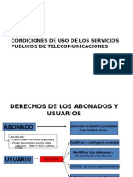 Condiciones de Uso de Telecomunicaciones