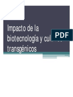 Biotecnología y Transgénicos