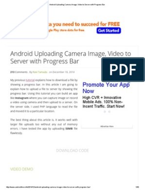 Android Uploading Camera Image, Video to Server with