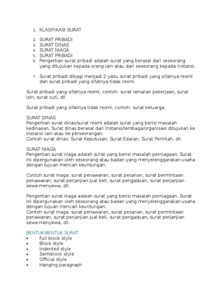 Contoh Surat Niaga Permintaan Penawaran Suratsuratxyz