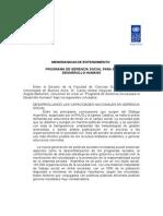 Memorandum de Entendimiento PNUD FCE Programa de Gerencia Social Ajustado