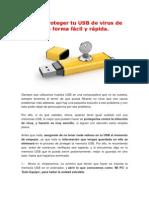 Cómo Proteger Tu USB de Virus de Una Forma Fácil y Rápida