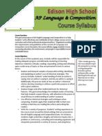 2015 ap language course syllabus