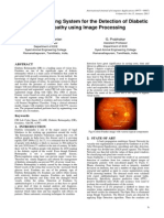 An Early Screening System for the Detection of Diabetic Retinopathy Using Image Processing