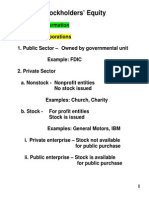 Stockholders_equity Chapter 18 Notes