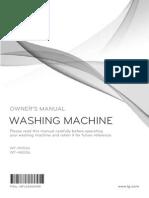 LG OWNERS MANUAL WASHING MACHINE MODELS WT-H9556 WT-H8006