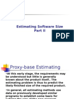 Estimating of Software Size - Part II - Fall 2003