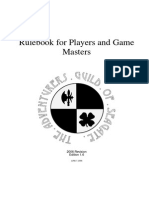 Seagate Guild DQ Rules '06