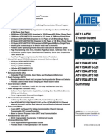 Datasheet AT91 ARM pdf