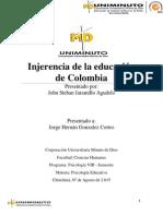 Injerencia de La Educación de Colombia.