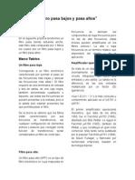 Filtro Pasa Bajos y Pasa Altos