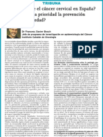 El cáncer cervical en España y su prevención
