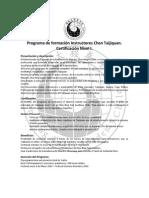 Programa de Formación Instructores Chen Taijiquan Nivel I Final