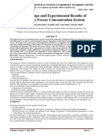 System Design and Experimental Results of Progressive Freeze Concentration System