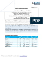 Financial Results with Results Press Release & Limited Review Report for June 30, 2015 [Company Update]