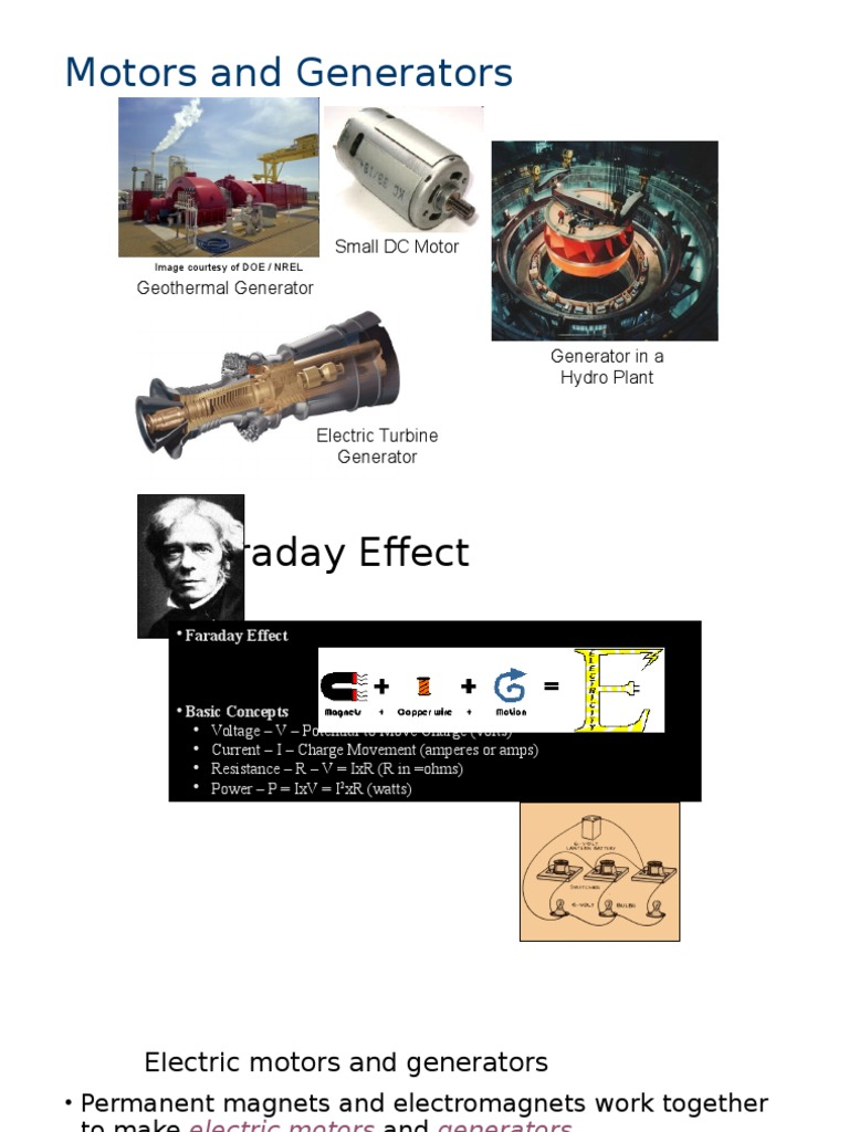 Mg Electric Motor Generator Faraday The Invention Of And