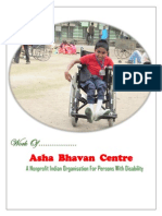 Work of Asha Bhavan Centre - A Nonprofit Indian Organisation for Persons With Disability
