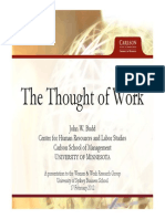 John Budd The Thought of Work