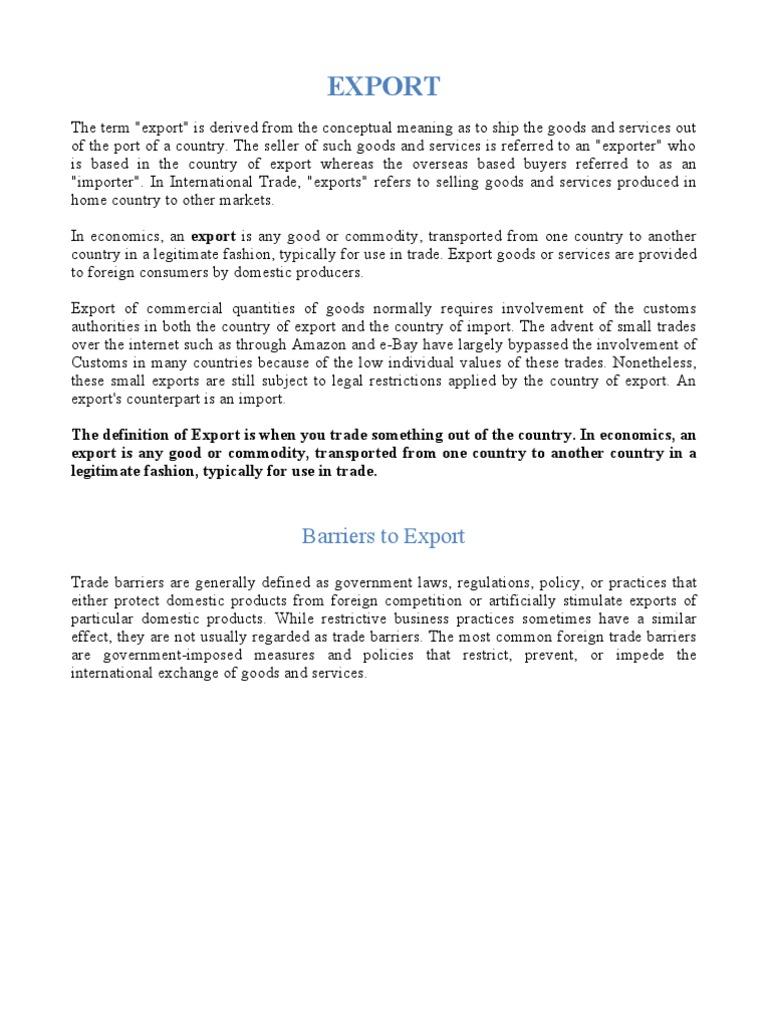 Export Import Documentation | Bill Of Lading | Trade