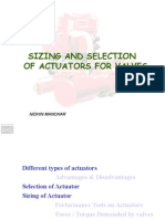 Sizing and Selecting Actuators for Valves