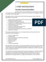 Unit 5 - CPM - Cost Estimation