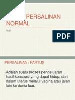 Askep Persalinan Normal