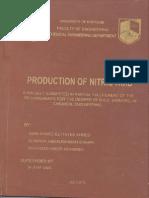 Production of Nitric ACID