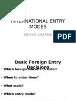 Entry Modes
