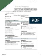 Course Application Checklist