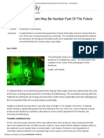 Ultra-Dense Deuterium May Be Nuclear Fuel of the Future -- ScienceDaily