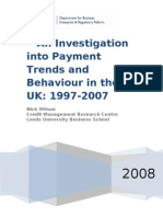 An Investigation Into Payment Trends and Behaviour-UK-1997-2007
