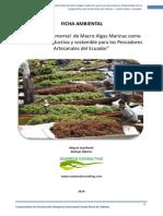 Ficha Ambiental Mae - Maricultura Macroalgas en Ecuador