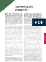 Indian Ocean Earthquake – Tsunami Emergency